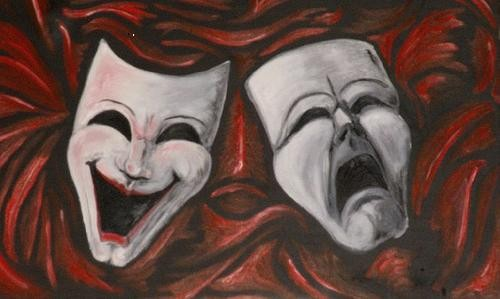 comedy-tragedy faces